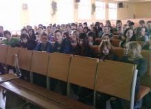 Fotky z prednášky na Gymnázium v Námestove