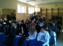 Fotky z prednášky na SOŠ Podnikania v Žiline